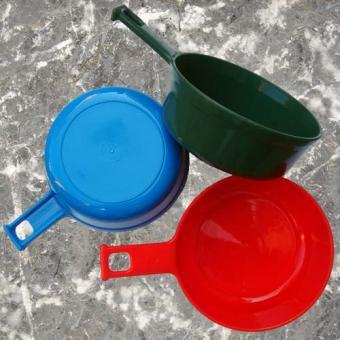 Outdoor Essgeschirr - grün, rot oder blau