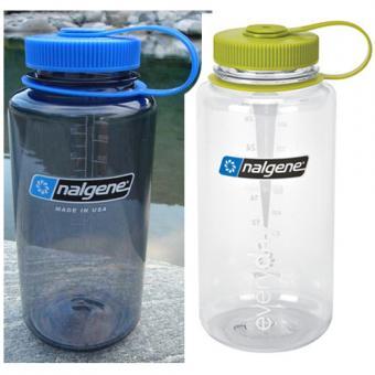 *Nalgene Weithalsflasche 1 Liter - grauton o. klar